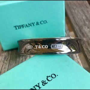 Rare Tiffany & Co. Silver and Titanium Cuff Bangle